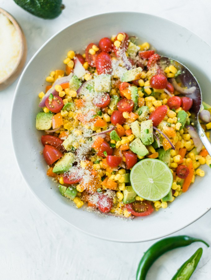 Zesty Corn and Avocado Salad- fresh, healthy, and absolutely delicious!