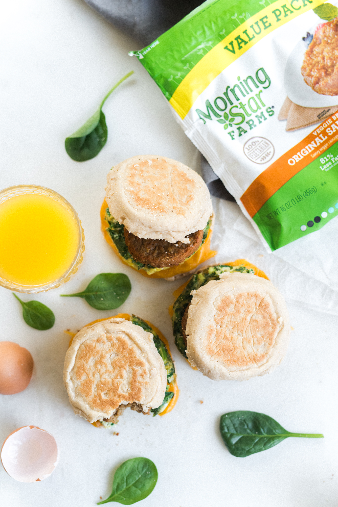 Meal Prep Vegetarian Breakfast Sandwiches- make a batch on Sunday and eat healthier all week!