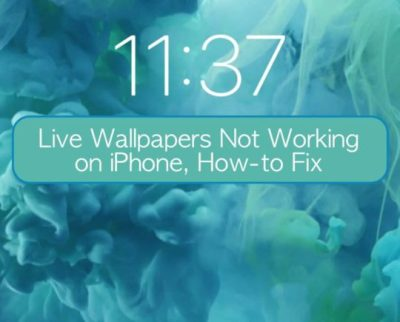 Live Wallpapers Not Working on iPhone, How-to Fix