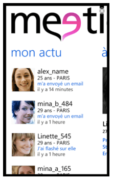 Meetic sur WP7