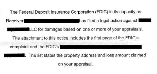 Notice of Claim Appraiser