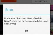 Android Fix: App could not be downloaded due to an error 492