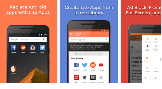 Download Hermit • Lite Apps Browser for PC
