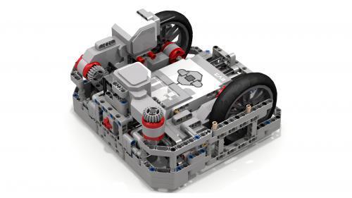 Robô com frame lateral, usado para auxilar o deslocamento usando a base lateral da mesa.
