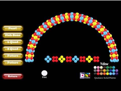 Exemplo de um arco de balões