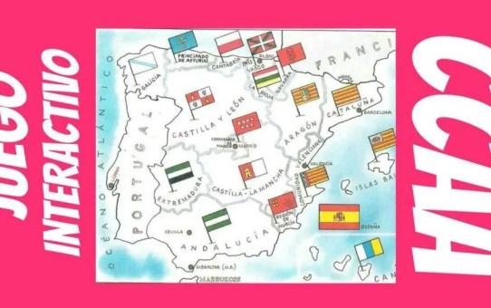 Comunidades Autónomas de españa. Aprender con un juego mapa interactivo.