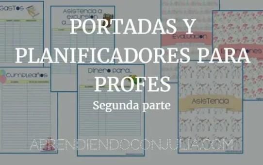 portadas para profes PLANIFICADORES Y LISTAS IMPRIMIBLES segunda parte