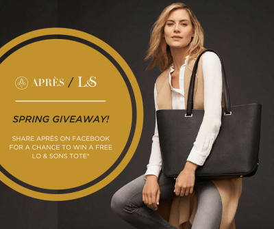 SPRING GIVEAWAY with Lo & Sons - Après