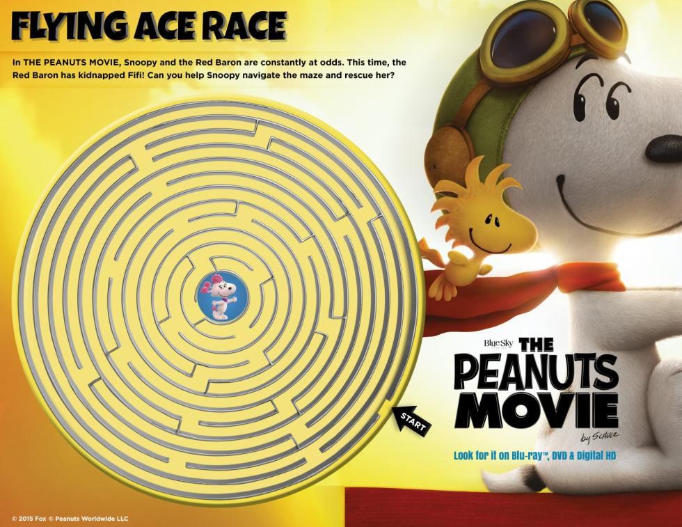 Peanuts Movie Maze