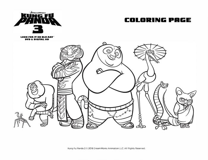 Kung Fu Panda 3 Coloring Sheets Free Printables Team