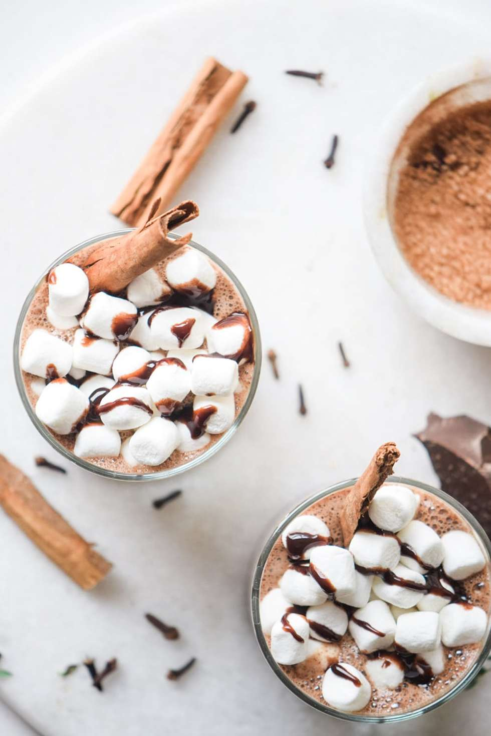 Crockpot Hot Chocolate with Chai Spices - perfect fall drink for the holidays to keep you warm and impress your family during the holiday season