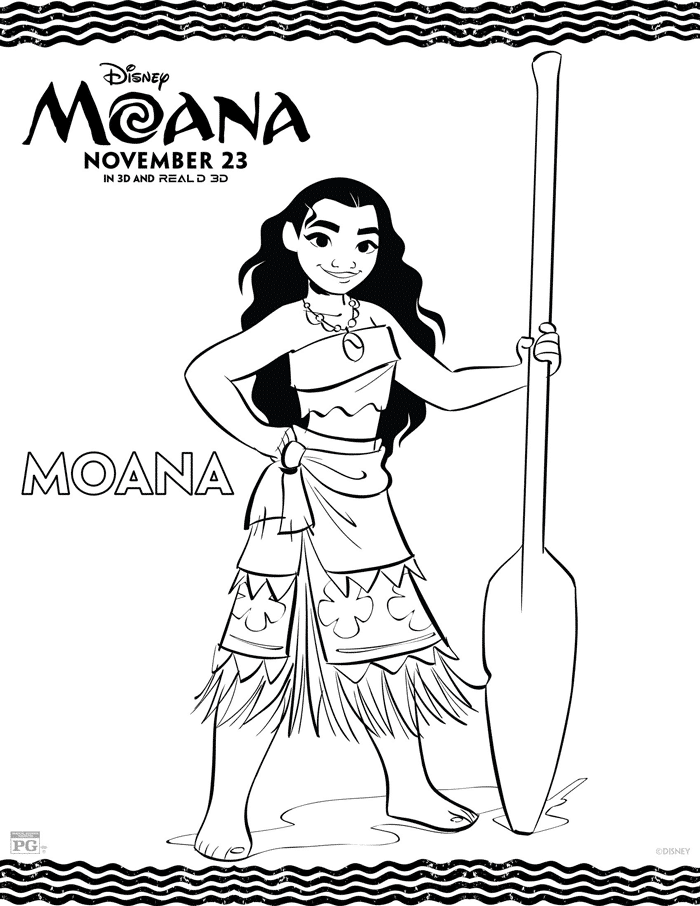 Moana Coloring Sheets – Free Printables