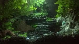 Deze aquascape door Tumblr gebruiker houdinettes is een goed voorbeeld van wat er tegenwoordig met nepplanten kan!