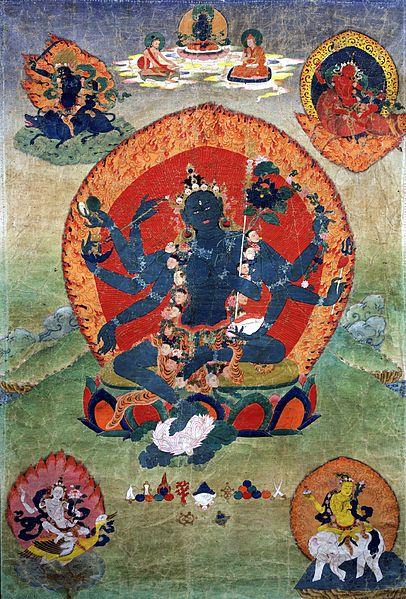 Aureolas 18th_century_Eastern_Tibeten_Thanka,_with_the_Green_Tara_(Samaya_Tara_Yogini)_in_the_center_and_the_Blue,_Red,_White_and_Yellow_taras_in_the_corners,_Rubin_Museum_of_Art