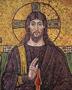 Nimbo crucifero Christus_Ravenna_Mosaic Wiki