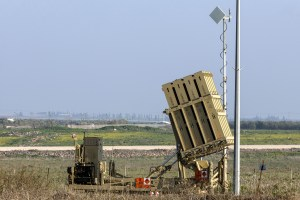 A picture shows an Iron Dome defence system, designed to intercept and destroy incoming short-range rockets and artillery shells, in the Israeli-annexed Golan Heights on January 20, 2015, two days after an Israeli air strike killed six Hezbollah members in the Syrian-controlled side of the Golan Heights. The strike on Syria killed an Iranian general, Tehran confirmed on January 19, as thousands of supporters of Lebanon's Hezbollah gathered to bury one of the six fighters killed in the same raid. AFP PHOTO / JACK GUEZ (Photo credit should read JACK GUEZ/AFP/Getty Images)