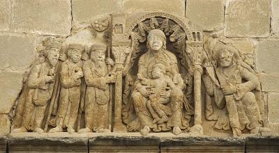 Adoración de los Reyes Magos, Santa María de Uncastillo