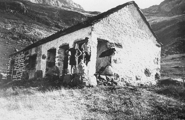 El refugio en una fotografía de 1950.