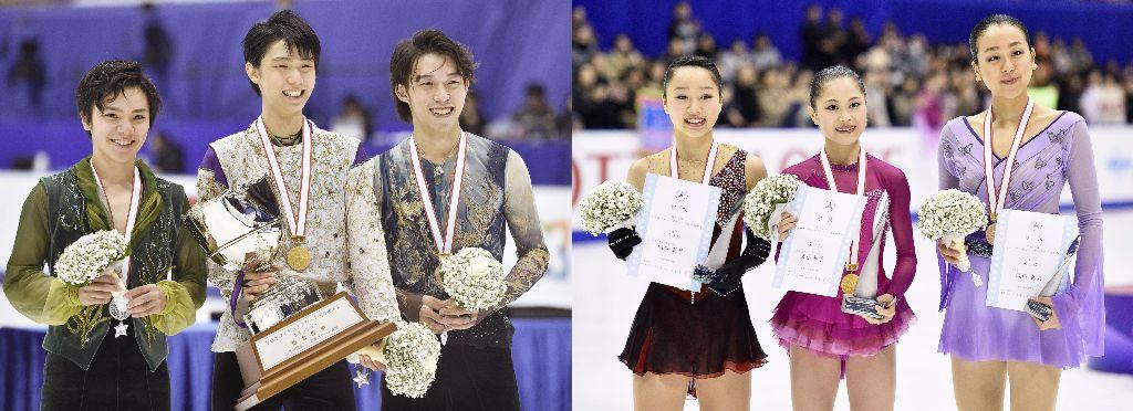 Yuzuru Hanyu and Satoko Miyahara Win National Championships