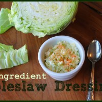 3~Ingredient Coleslaw Dressing