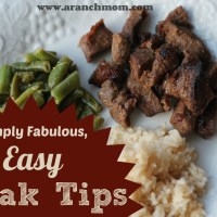 Fabulous, Easy Steak Tips