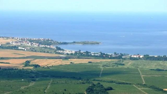 "The Black Sea Cape Chervenka, also known as Chrisosotira, or ""Golden Savior, Golden Christ"