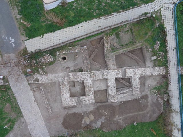 A photo of the newly discovered northern gate of the Late Antiquity fortress of Agathopolis in Bulgaria's Ahtopol on the Black Sea with its two towers. Photo: Tsarevo Municipality Facebook Page