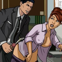 Cheryl Tunt has not even taken off her shirt and Archer already has shoot!