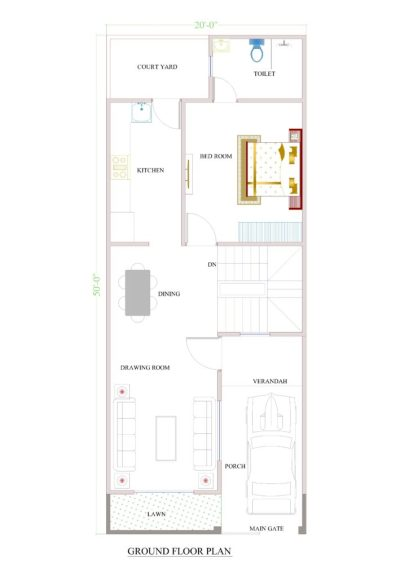 20x50 house plans for your dream house - House plans
