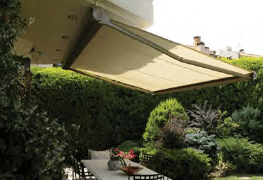 kumo awning over garden outdoor area