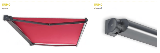 Kumo awning arm system details