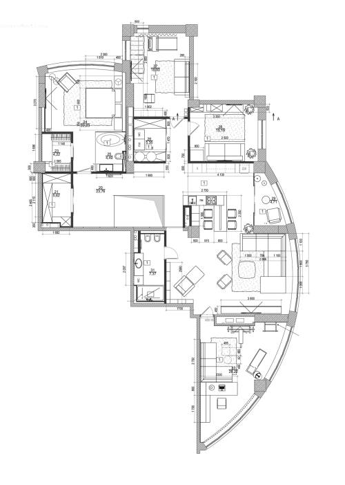 Medium Of Modern Apartment Floor Plan