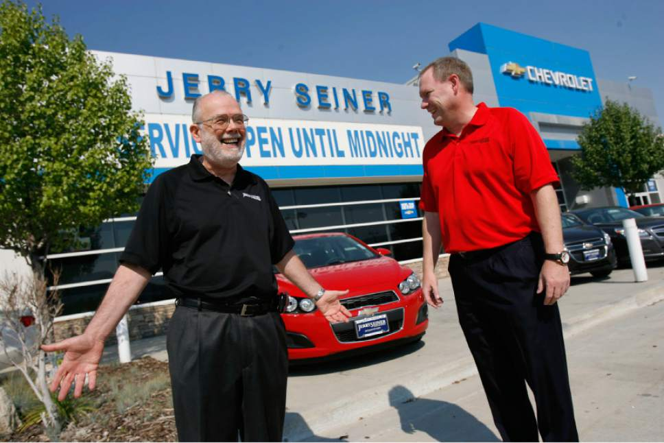 Utah auto dealer Jerry Seiner dies at age 75   The Salt Lake Tribune Francisco Kjolseth   The Salt Lake Tribune Utah automobile dealer  Jerry  Seiner  seen here