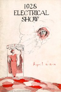 1928 Electrical Show program, Record Series 11/6/805.