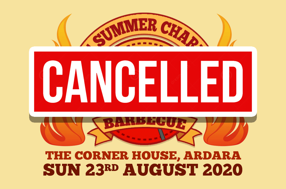 Summer Charity BBQ Cancelled