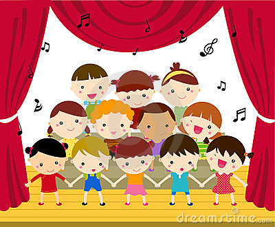 School Children of Mhin Tine De take to the Stage.