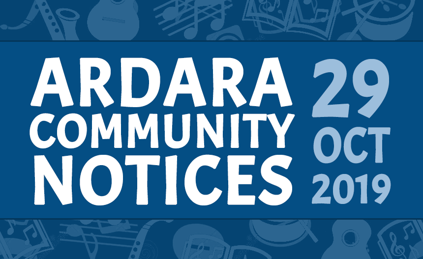 Community Notices 29th November 2019