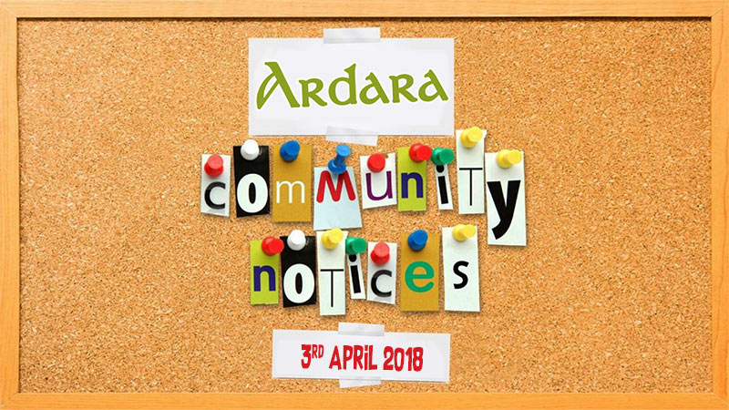 Ardara Community Notices 3rd April 2018