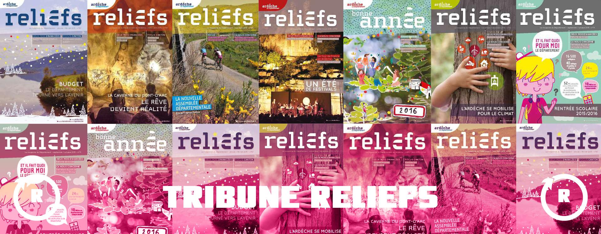 Tribune Libres Propos Groupe Majorité  – Reliefs n°95 – Septembre/Octobre/Novembre 2019