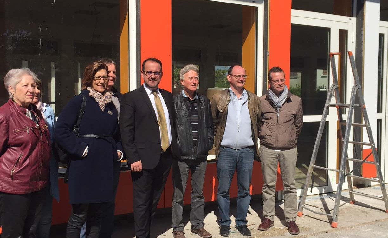 Martine Finiels et Christian Feroussier à la rencontre des acteurs du canton Rhône-Eyrieux