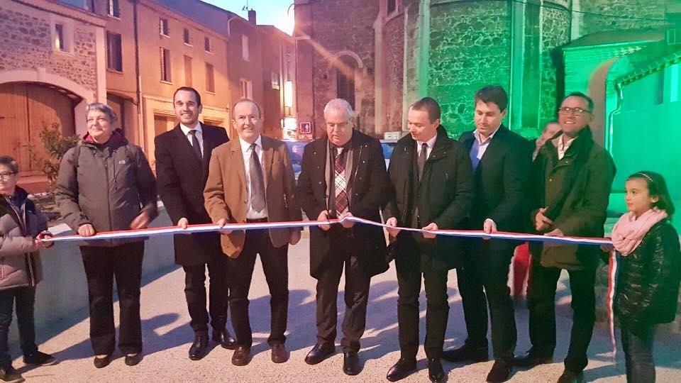 Inauguration des travaux de traversée du Bourg de Sarras