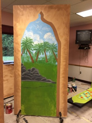 Aladdin Play, Mural painting