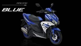 Yamaha Aerox 125 biru