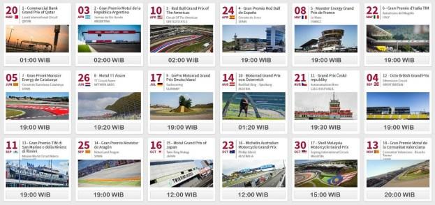 Jadwal MotoGP 2016...