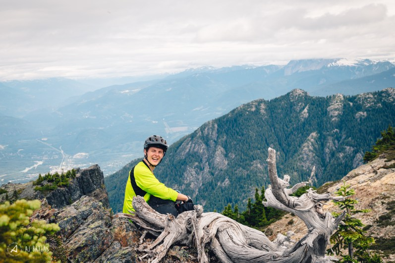 Turman stoked on the view and the break