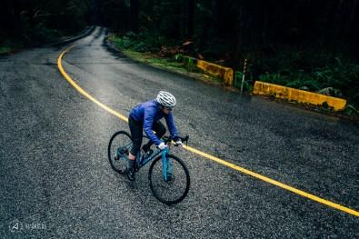 Sarah Leishman training on her road bike