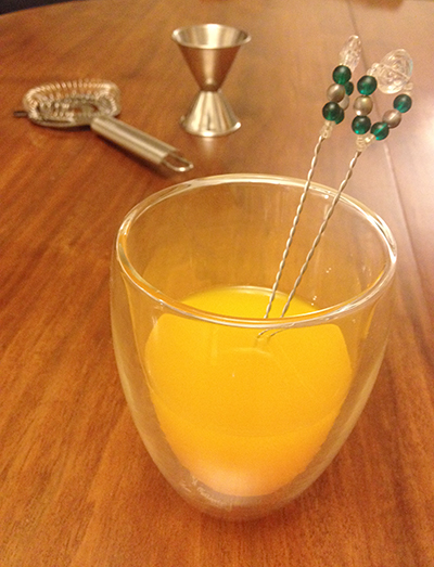 Beaded swizzle stick