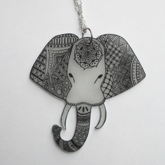 zentangle necklace