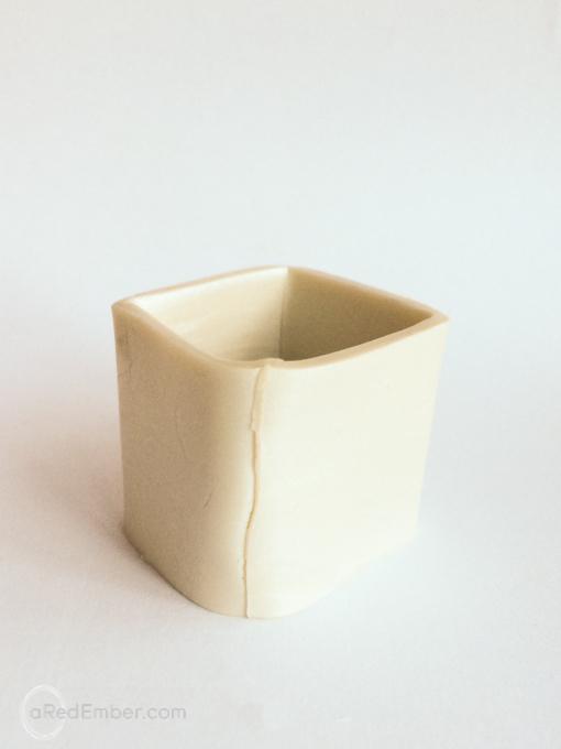 modeling clay flower pot