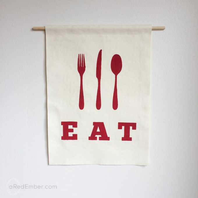 diy kitchen banner